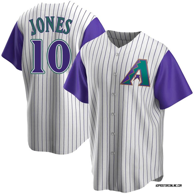 Men's Adam Jones Arizona Cream/Purple Replica Alternate Cooperstown Collection Baseball Jersey (Unsigned No Brands/Logos)